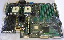 6X871 Материнская Плата Dell iE7500 Dual Socket 603 6DDR UW320SCSI U100 6PCI-X PCI 2SCSI 2LAN Video ATX 400Mhz For PowerEdge 2600