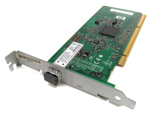 366607-002 Контроллер HP NC370F PCI-X Multifunction 1000SX Gigabit Server Adapter - Single-port with Gigabit Ethernet, TCP/IP Offload Engine (TOE), for Windows, accelerated iSCSI, and Remote Direct Memory Access (RDMA)