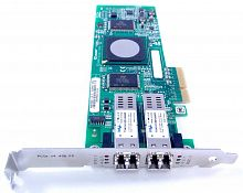 DH226 Сетевой Адаптер Dell (Qlogic) QLE2462-DELL PX2510401 2x4Гбит/сек Dual Port Fiber Channel HBA LP PCI-E4x