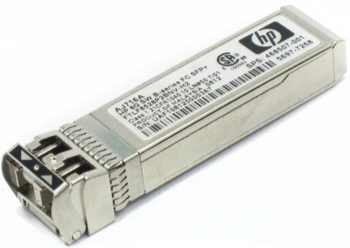 468507-001 Transceiver SFP+ HP [Finisar] FTLF8528P2BNV-H2 8,5Gbps MMF Short Wave 850nm 500m Pluggable miniGBIC FC8x