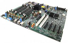 TW855 Материнская Плата Dell i5000P Dual Socket 771 8FBD 4SATAII 4PCI-E8x 2PCI-X SVGA 1GbLAN E-ATX 1333Mhz For PowerEdge 1900